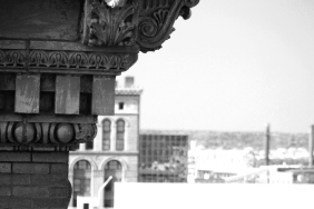 Shot from the top of the parking lot above our studio, this image was meant to capture some of the historic feel of classic Kansas City. Our assignment is to use depth of field, light and geometry to create multiple black and white images of one location. Looking to improve on my effort in my next attempt.